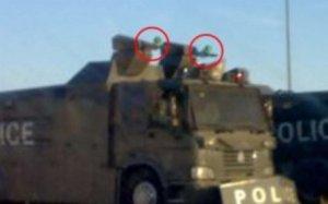 تصویری از واردات تجهیزات زرهی ویژه سرکوب اعتراض های شهری